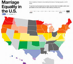 Interactive United States Map by Marriage Is Now Legal In Most Of The Country Because The