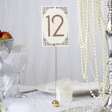 wedding table number holders gold table number holders 12 pack wedding mall
