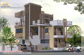 sweet looking 13 three storey house plans kerala 3 story plan and