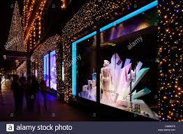 Christmas Window Decorations London by Harrods Christmas Window Displays London United Kingdom Stock