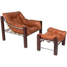 leather lounge chair and ottoman by george smith for sale at 1stdibs