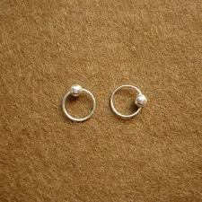 small hoop earrings for cartilage 8 mm tiny silver hoop earrings with captive bead rings