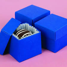 Blue Favor Boxes by 2 X 2 Royal Blue Two Favor Boxes Set Of 25