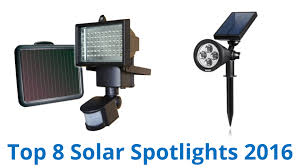 best solar flood light 8 best solar spotlights 2016 youtube