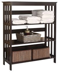 bathroom awesome free standing espresso wooden 3 tier storage