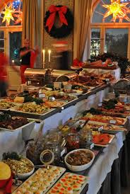 svenskt julbord swedish smörgåsbord at christmas time