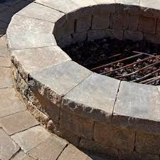 Unilock Fire Pit by Estate Wall Fire Pit