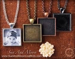 diy necklace pendants images Diy kit keepsake photo pendant and photo necklace kit large jpg