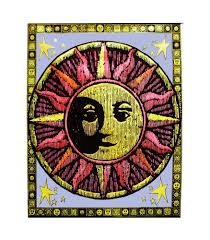 American Flag Tapestry Wall Hanging Aztec Sun Blacklight Tapestry Cloth Wall Hanging New Rock Poster
