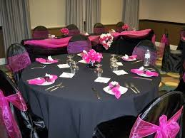 Pink Table L 37 Black And Pink Table Settings Pink Black And Gold Table