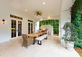 Outdoor Kitchen And Dining Coconut Grove Luxury Home With 7 Beds U0026 8 5 Baths Offered At