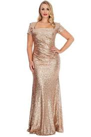 bling sequins golden women evening dresses square neck short