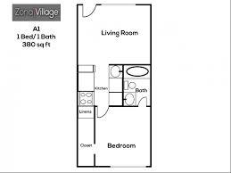 1 u0026 2 bedroom apartment floor plans zona village apartments