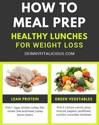 how to meal prep healthy lunches for weight loss skinny fitalicious
