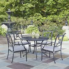 home styles biscayne 42 in 5 piece round swivel patio