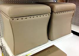 leather ottoman with storage target storage decorations