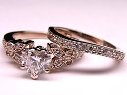 vintage wedding ring sets engagement ring heart shape diamond butterfly vintage engagement