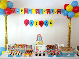 1st birthday party decorations at home 1st birthday decoration ideas at home india balloon for party 7