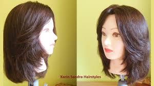 bob haircut with face framing layers haircut medium length
