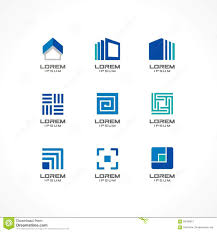 set of icon design elements abstract logo ideas for business