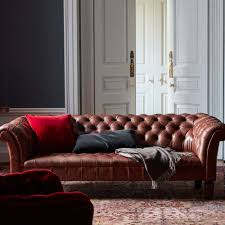 What Is Chesterfield Sofa by Shop Chesterfield Sofa Chestnut Leather From Soho Home Today