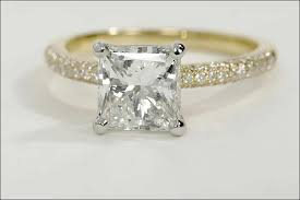 princess cut gold engagement rings yellow gold engagement rings 15 stunning rings you ll