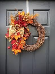 Fall Wreaths Fall Wreath Autumn Leaves Small Fall Wreaths Thanksgiving