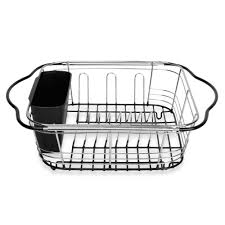 dish drainer for small side of sink over the sink 3 in 1 expandable dish rack with integrated handles