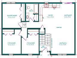 Ranch House Floor Plans With Basement Home Design Split Level Style House Ranch Floor Plans One