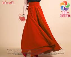 flowy maxi skirts orange maxi skirt tomato chiffon maxi skirt with ruched