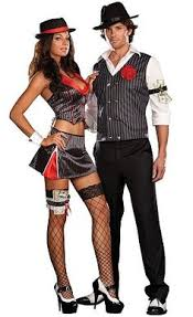 Woman Gangster Halloween Costumes Mobster Themed Weddings Gangster U0026 Charleston Cutie Couples