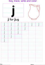 english small letter u0027j u0027 worksheet