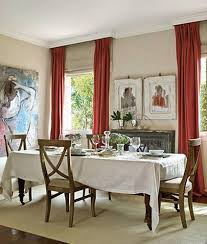 red dining room curtains red curtains and drapes