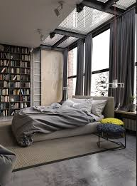 Fascinating Curtains For Narrow Bedroom Windows With Blue And by New Industrial Bedroom Decor With Grey Heavy Soft Curtains Also