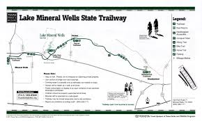 Garner State Park Map Lake Mineral Wells State Trailway The Portal To Texas History