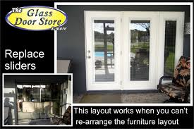 Replacing Home Windows Decorating Replace Sliding Glass Door With French Doors