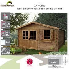 abris de jardin madeira abri de jardin bois zahora 28 mm autoclave marron 002290 madeira