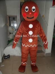 Halloween Costumes Gingerbread Man Cheap Gingerbread Man Mascot Costume Aliexpress