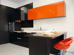 Ways To Color Your Kitchen Cabinets DIY - Orange kitchen cabinets