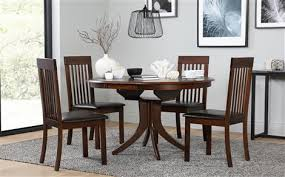 round table with 6 chairs hudson round dark wood extending dining table and 4 chairs set
