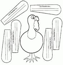 printable turkey cutout freebie thanksgiving turkey writing activity give each of