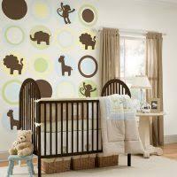 adorable baby nursery room decoration using light green baby room