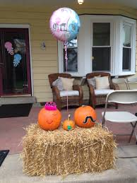 Halloween Baby Shower Themes Fall Themed Gender Reveal Party Idea Easy To Make Decorated