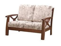 structure canapé canapé 2 places bois petit sofa tissu fauteuil de relaxation avec