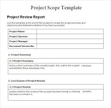project scope template peerpex