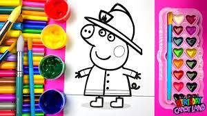 coloring fireman peppa pig coloring pages for kids to learn to