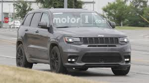 jeep hellcat truck jeep grand cherokee srt spied with menacing new nose