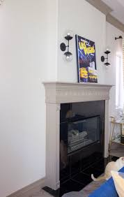 going mod with a traditional fireplace designed in a click q and