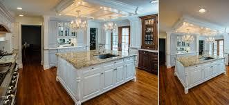 custom white kitchen cabinets custom white kitchen with french blue hutch