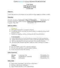 No Resume Jobs Resume Job Application Resume Cover Letter Sample Caregiver No